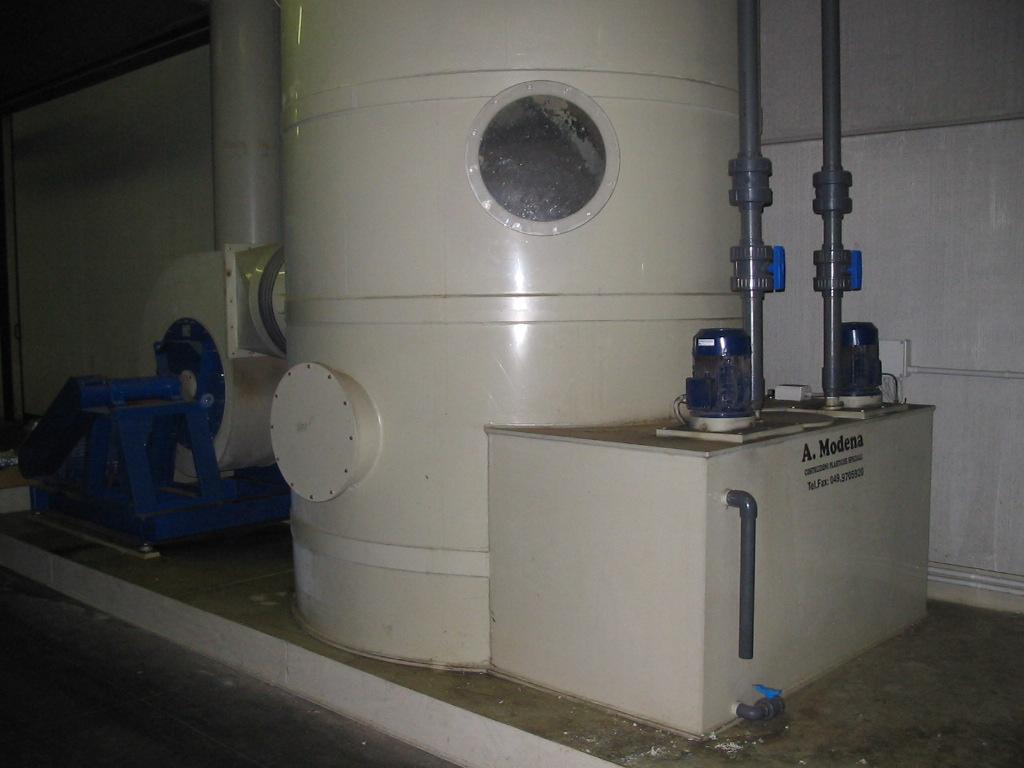 Abbattitore fumi impianto nicke silicio per ditta athena for Abbattitore fumi per stufe a pellet